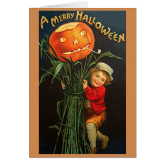 Viktorianische Hallowe'en Gruß-Karte Grußkarte