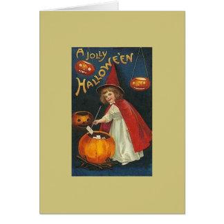 Viktorianische Halloween-Gruß-Karte Grußkarte