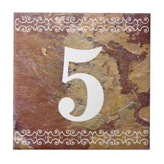 Viktorianische Hausnummer-Fliese Keramikfliese