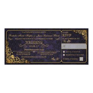 Viktorianische Hochzeits-Karten-Einladung mit UAWG Karte