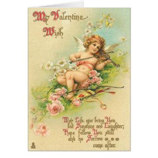 Viktorianische Karte des Valentines Tages