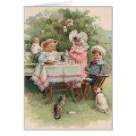 Viktorianische Kindertee-Party-Anmerkungs-Karte