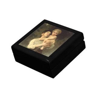 Viktorianische Kunst, Bruder und Schwester durch Geschenkbox