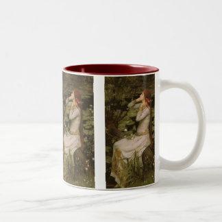 Viktorianische Kunst, Ophelia durch den Teich Zweifarbige Tasse