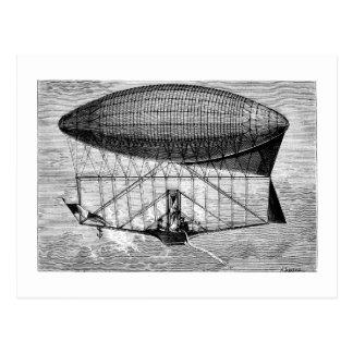 Viktorianische Luftschiff-lenkbar-schalldichte Postkarte