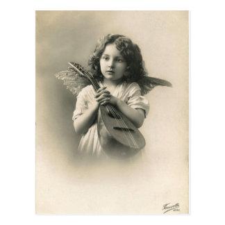 Viktorianische Mädchen-Engels-Postkarte Postkarte