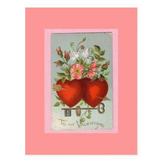 Viktorianische Postkarte des Valentines Tages