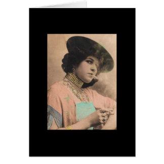Viktorianische rauchende Dame Postcard Karte