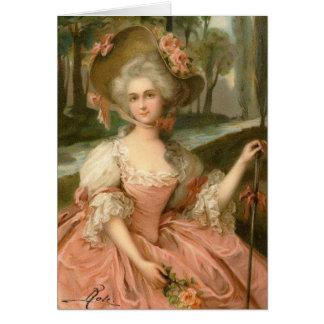 Viktorianische Rosen-Dame Karte