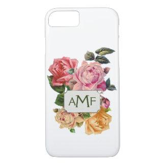 Viktorianische Rosen u. mit Monogramm Aufkleber iPhone 7 Hülle