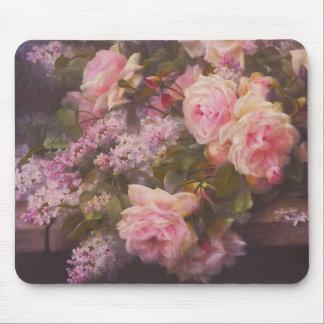 Viktorianische Rosen und Fliedern Mousepad