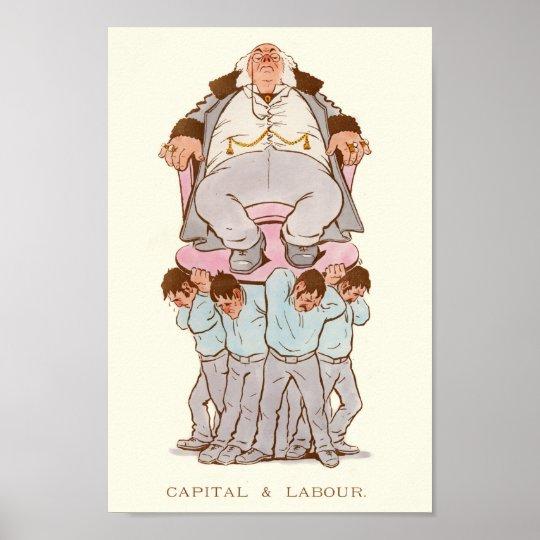 Viktorianische Satire auf Kapitalismus und Arbeit Poster
