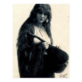 Viktorianische Sinti und Roma-Postkarte Postkarte