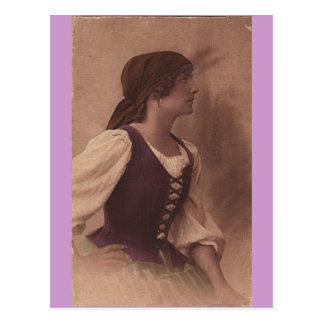 viktorianische Sinti und Romapostkarte Postkarte