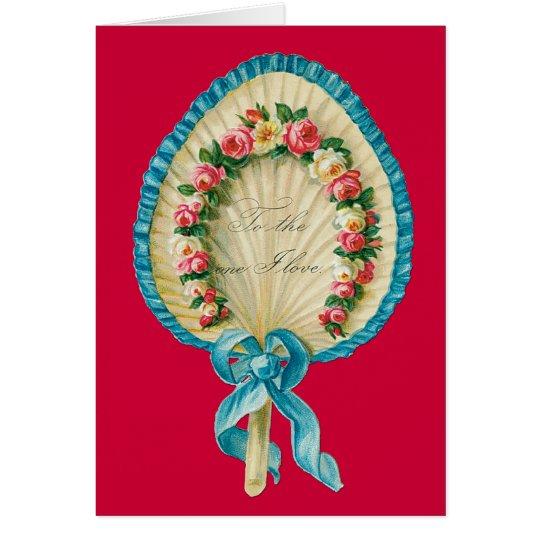Viktorianische Valentine-Fan-Karte Karte