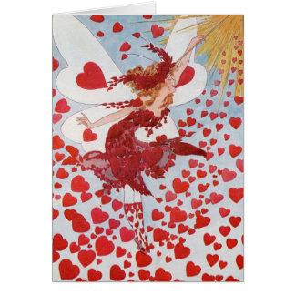 Viktorianische Valentineherzfee Karte