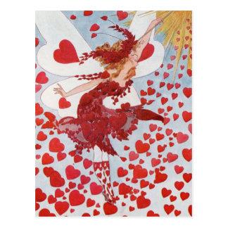 Viktorianische Valentineherzfee Postkarte