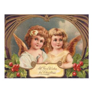 Viktorianische Weihnachtsengels-Postkarten Postkarte