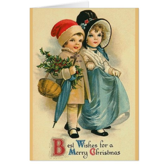 Viktorianische Weihnachtsgruß-Karte Grußkarte