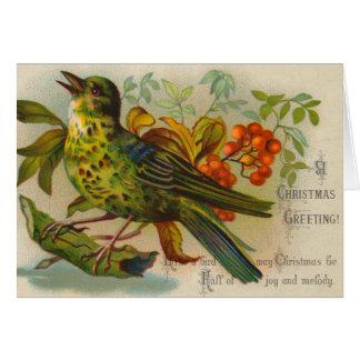 Viktorianische Weihnachtskarte Grußkarte