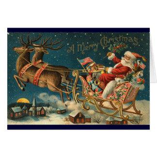 Viktorianische Weihnachtskarte - Sankt Grußkarte
