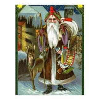 Viktorianische Weihnachtsmann-Postkarte Postkarte