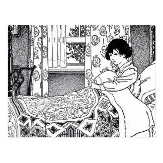 Viktorianischer Bedtime Postkarte