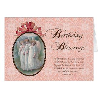 Viktorianischer Geburtstags-Segen Grußkarte