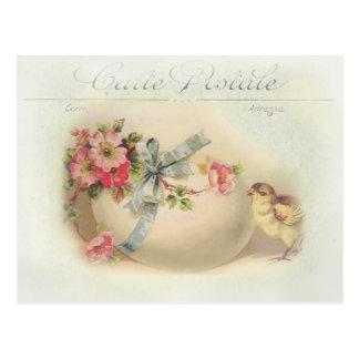 Viktorianischer Osternchic und -ei Postkarte