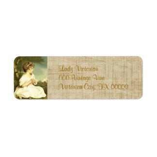 Viktorianischer Rücksendeadressen-Aufkleber Damen- Rücksendeetiketten