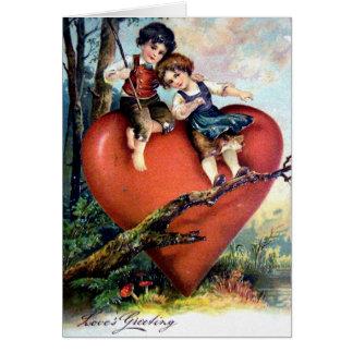 Viktorianischer Valentine Karte