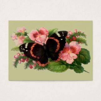 Viktorianisches Art-Geschenk etikettiert ~ Visitenkarte