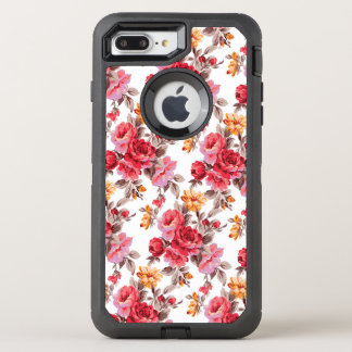 Viktorianisches BlumenRosenmuster otterbox 7 OtterBox Defender iPhone 8 Plus/7 Plus Hülle
