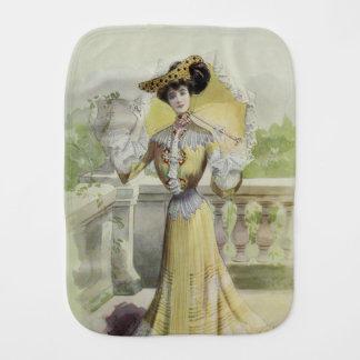 Viktorianisches Dame-Vintages französisches Baby Spuchtücher