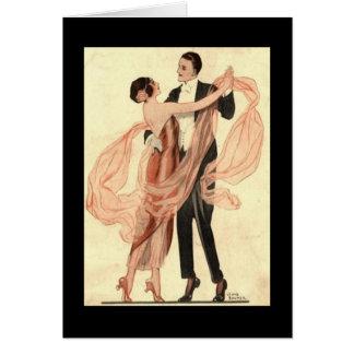 Viktorianisches Edwardian Paar-Tanzen Karte
