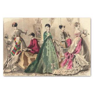 Viktorianisches Kleid mit rosa Bogen Seidenpapier
