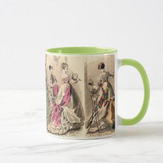 Viktorianisches Kleid mit rosa Bogen Tasse