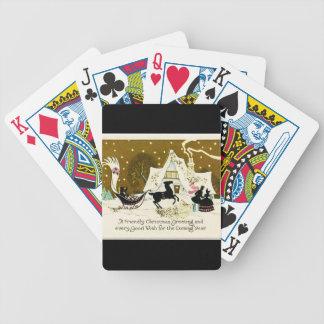 Viktorianisches Land-Weihnachten Bicycle Spielkarten