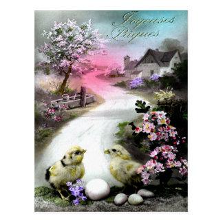 Viktorianisches Ostern Postkarte