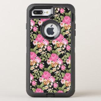 Viktorianisches rosa Rosenmuster otterbox 7 OtterBox Defender iPhone 8 Plus/7 Plus Hülle