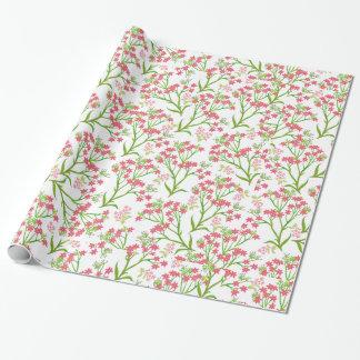 Viktorianisches rosa Wildblumen-Verpackungs-Papier Geschenkpapier