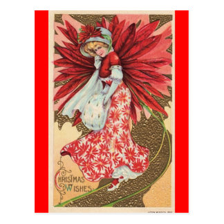 viktorianisches Weihnachtsfeenhafte Postkarte