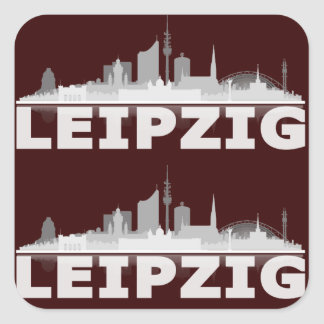 Ville de Leipzig Skyline autocollant