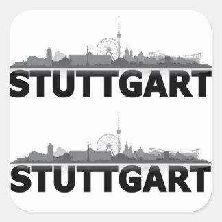 Ville de Stuttgart Skyline - autres idées de cadea Sticker Carré