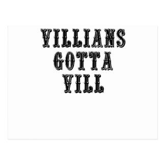 Villians gelangte an Vill Postkarte
