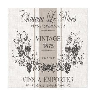vin français vintage moderne de sac de grain toiles