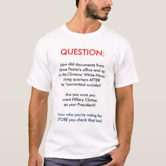 Vince Pflegedokumenten-AntiHillary Clinton-T-Shirt T-Shirt