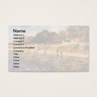Vincent van Gogh - Banken der die Seine-schönen Visitenkarte