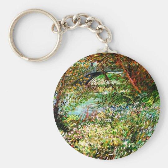 Vincent van Gogh - Banken der Seines im Frühjahr Schlüsselanhänger