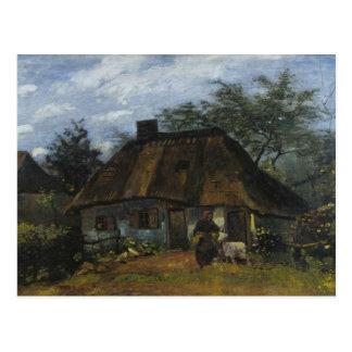 Vincent van Gogh - Bauernhaus in Nuenen Postkarte